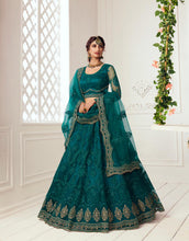 Load image into Gallery viewer, Beautiful Designer Bridal  Wear Lehenga