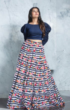 Load image into Gallery viewer, Gorgeous Indigo Flared Skirt and Top