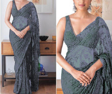 Load image into Gallery viewer, Beautiful Netted designer saree