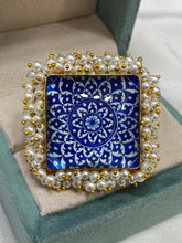 Load image into Gallery viewer, Square Precious Stone Ring