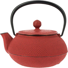 Load image into Gallery viewer, Traditional Red Cast Iron Teapot