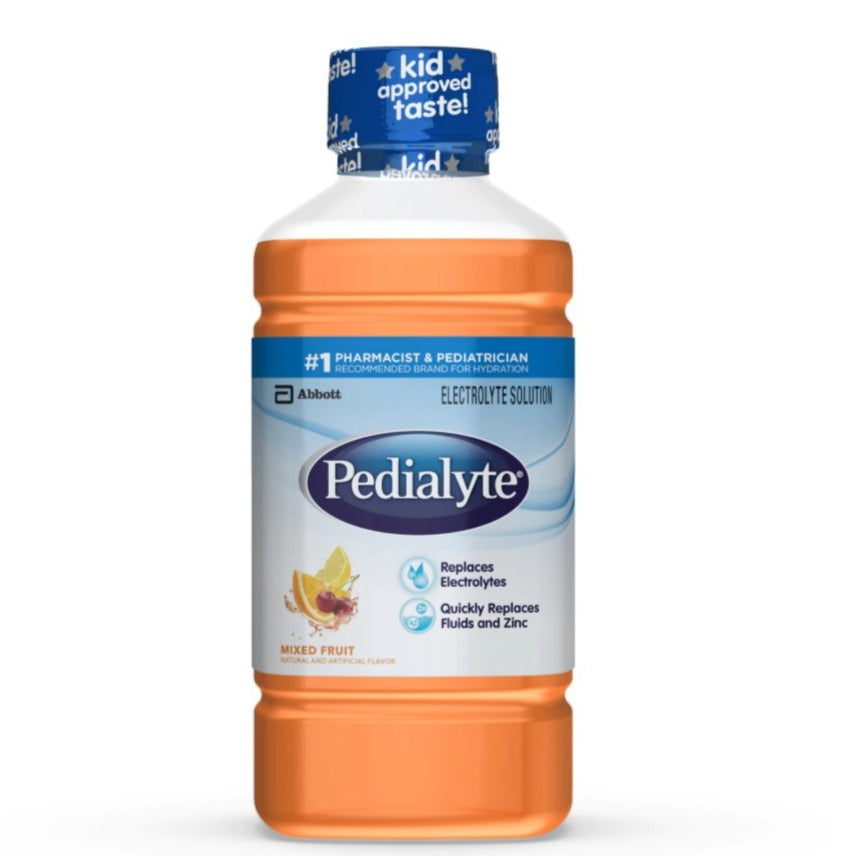 Pedialyte Electrolyte Solution Ready-to-Drink, 1 Liter - mixed Fruit