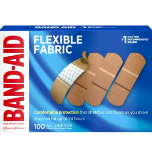 Band-Aid Brand Flexible Fabric Adhesive Bandages, One Size - 100 Count