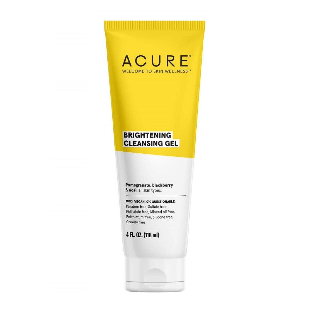 ACURE Brightening Cleansing Gel for All Skin Types - 4 Ounces
