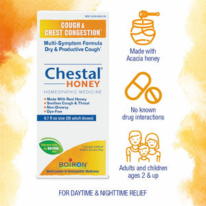 Chestal Honey - 6.7 Ounces, Adults and Children