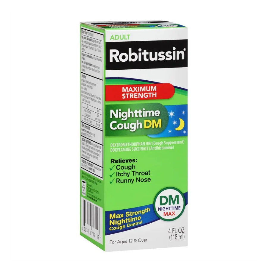 Robitussin Maximum Strength Nighttime Cough DM - 4 Ounce