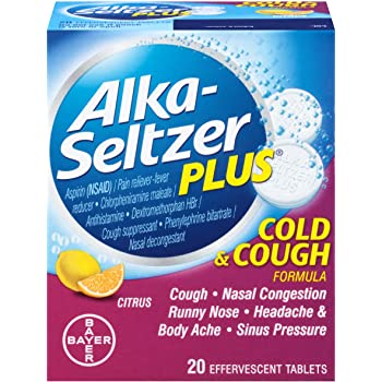 Alka-Seltzer Plus Cold & Cough Effervescent Tablets Citrus - 20 Count