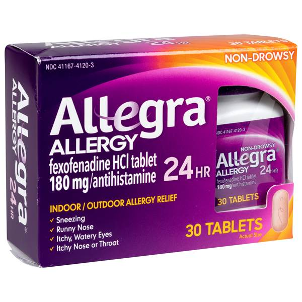 Allegra Allergy 24 Hours Tablets - 30 Count