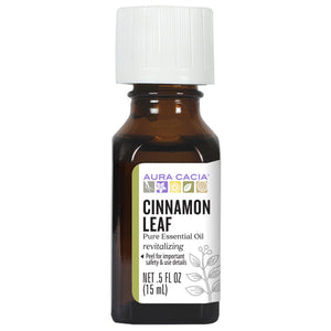 Aura Cacia Cinnamon Leaf Essential Oil - 0.5 Ounce