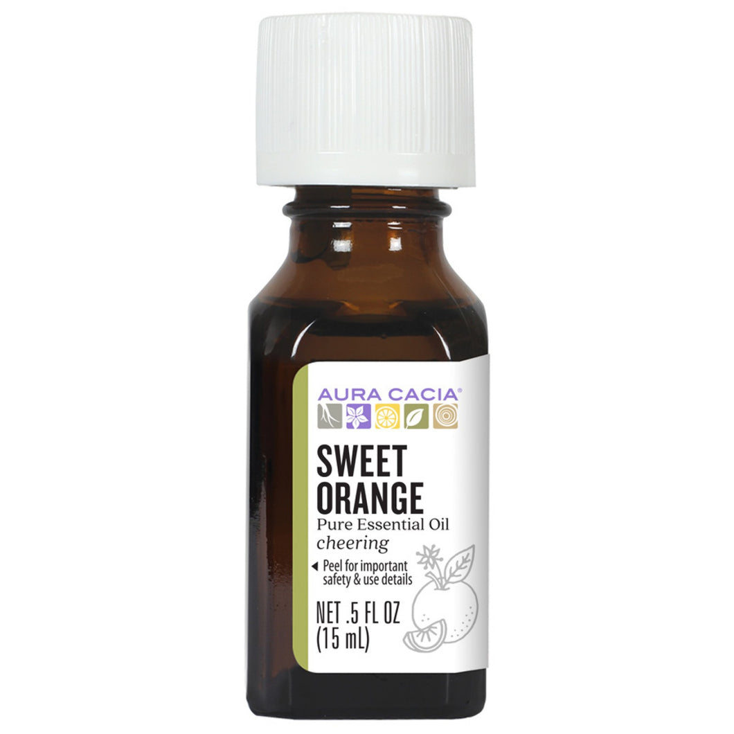 Aura Cacia Sweet Orange Essential Oil - 0.5 Ounce