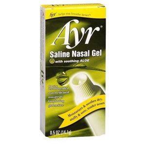 Ayr Saline Nasal Gel, with Aloe - 14.4 gm Tube