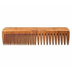 Bass Striped Bamboo Fine/Wide Tooth Combination Grooming Comb