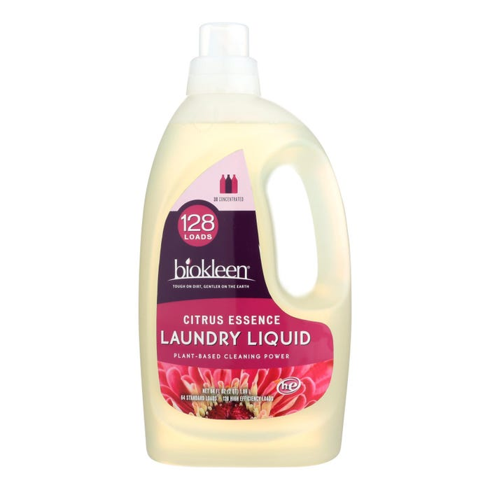 Biokleen Laundry Detergent, Citrus Essence 64 Ounces - 128 Loads