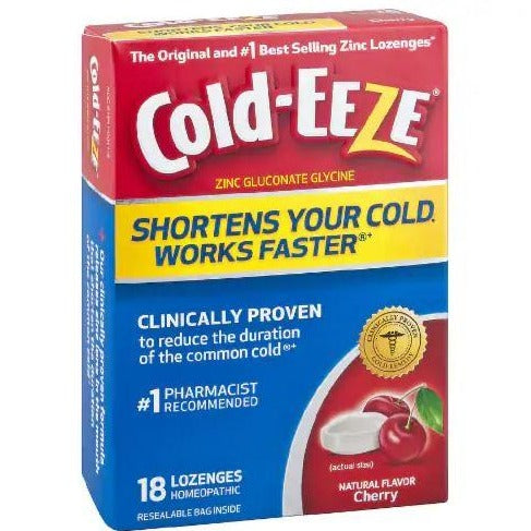 Cold-EEZE Cold Remedy Cherry Lozenges -- 18 Count