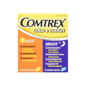 Comtrex Cold & Cough Day and Night Combo Pack - 12 Day Tablets, 12 Night Tablets
