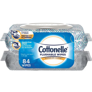 Cottonelle Flushable Wipes - 84 Count