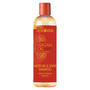 Creme of Nature Moisture & Shine Shampoo, Argan Oil - 12 Ounce