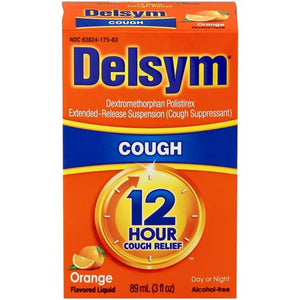 Delsym 12 Hour Cough Suppressant Orange - 3 Ounce