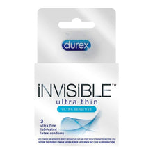 Load image into Gallery viewer, Durex Invisible Condoms, Ultra Thin & Ultra Sensitive