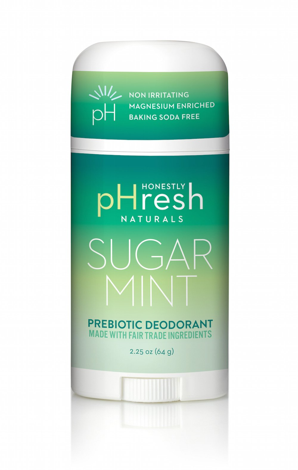 Honestly pHresh Sugar Mint Natural Deodorant Stick - 2.25 Ounce