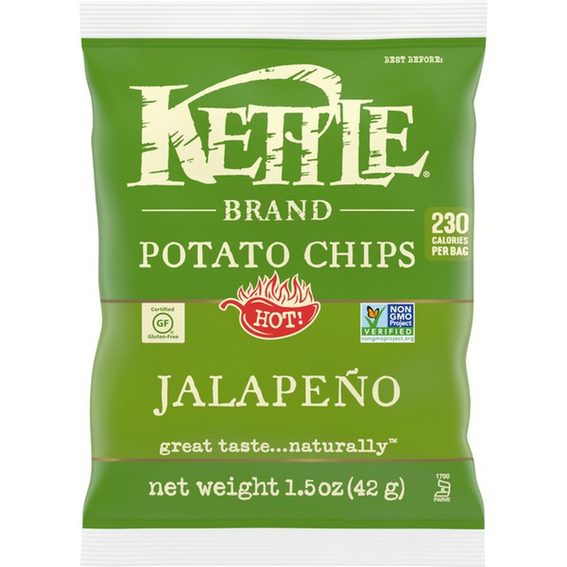 Kettle Brand Chips, Jalapeno - 1.5 Ounce