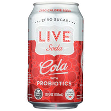 Load image into Gallery viewer, LIVE Probiotic Soda Cola - 12 Ounce Can