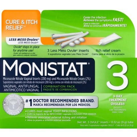 Monistat 3-Day Yeast Infection Treatment Combination Pack