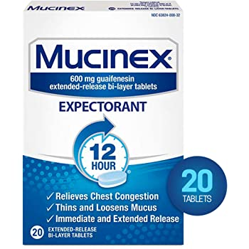 Mucinex Expectorant 600mg Extended-Release Tablets - 20 Count