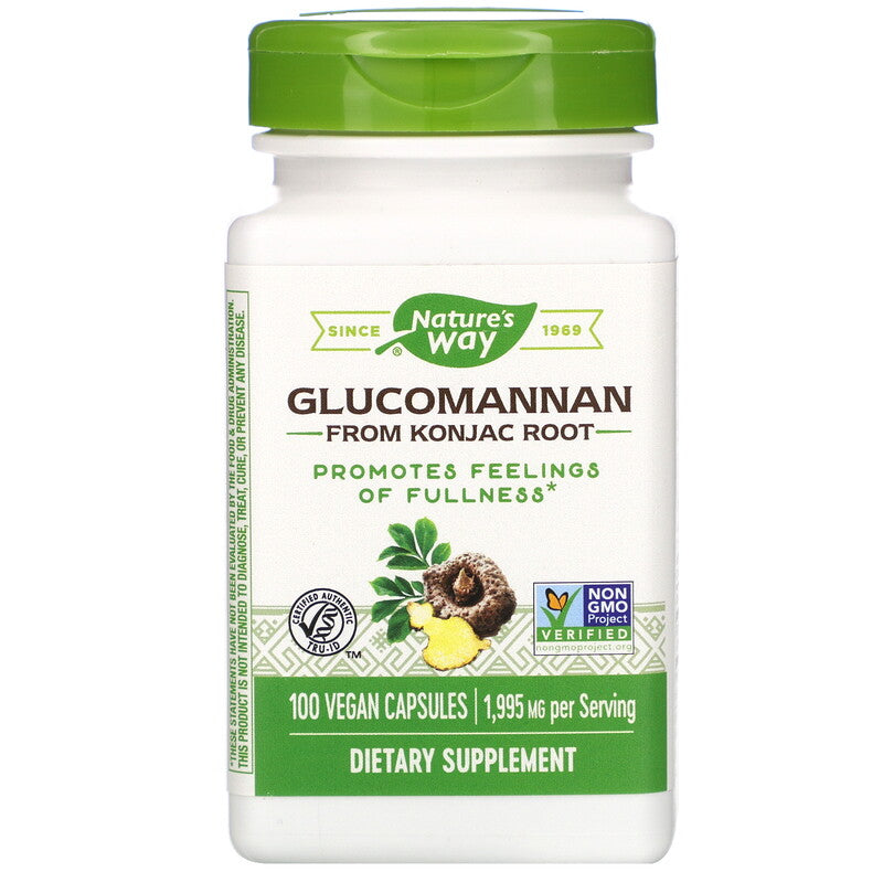 Nature's Way Glucomannan Vegan Capsules - 100 Count