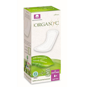 Organyc Panty-Liners, Organic Cotton Light Flow - 24 Count