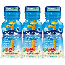 Load image into Gallery viewer, PediaSure Grow & Gain with Fiber, Kids Nutritional Shake, Vanilla - 8 Ounce/6 Pack