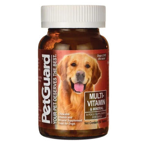 PetGuard Multi-Vitamin & Mineral for Dogs - 50 Chewable Tablets