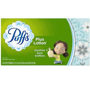 Puffs Plus Lotion Facial Tissue - 124 count