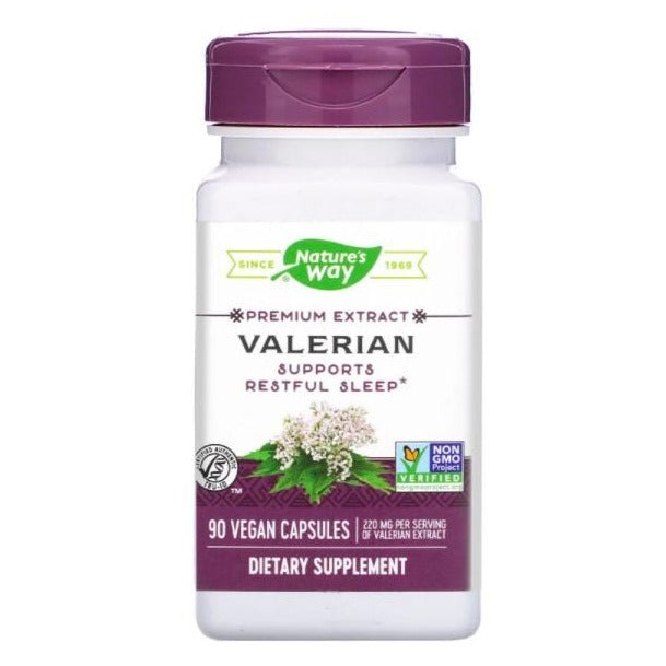 Nature's Way Valerian Sleep Support Vegan Capsules, 220mg - 90 Capsules