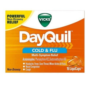 Vicks DayQuil Non-Drowsy Cold & Flu LiquidCaps - 16 Count
