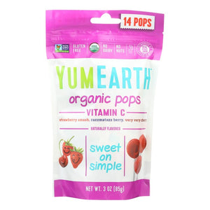 YumEarth Vitamin C Organic Pops - 14 Count Assorted Flavors