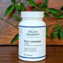 Load image into Gallery viewer, Zinc Lozenges 15 mg (with Vitamin C, Bee Propolis, and Slippery Elm)