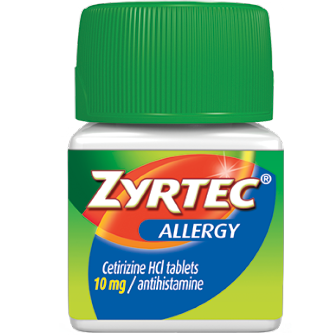 Zyrtec 24 Hour Relief Allergy Tablets - 30 Count - 10 mg Cetirizine