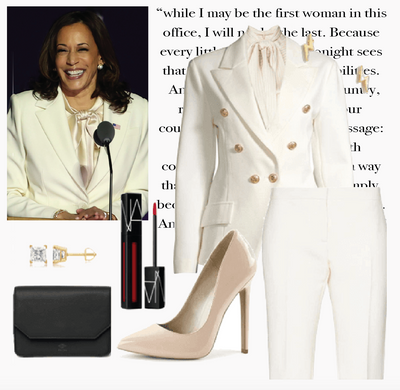 Inspired by Kamala Harris: The Affordable and Ethical White Power Suit Outfit