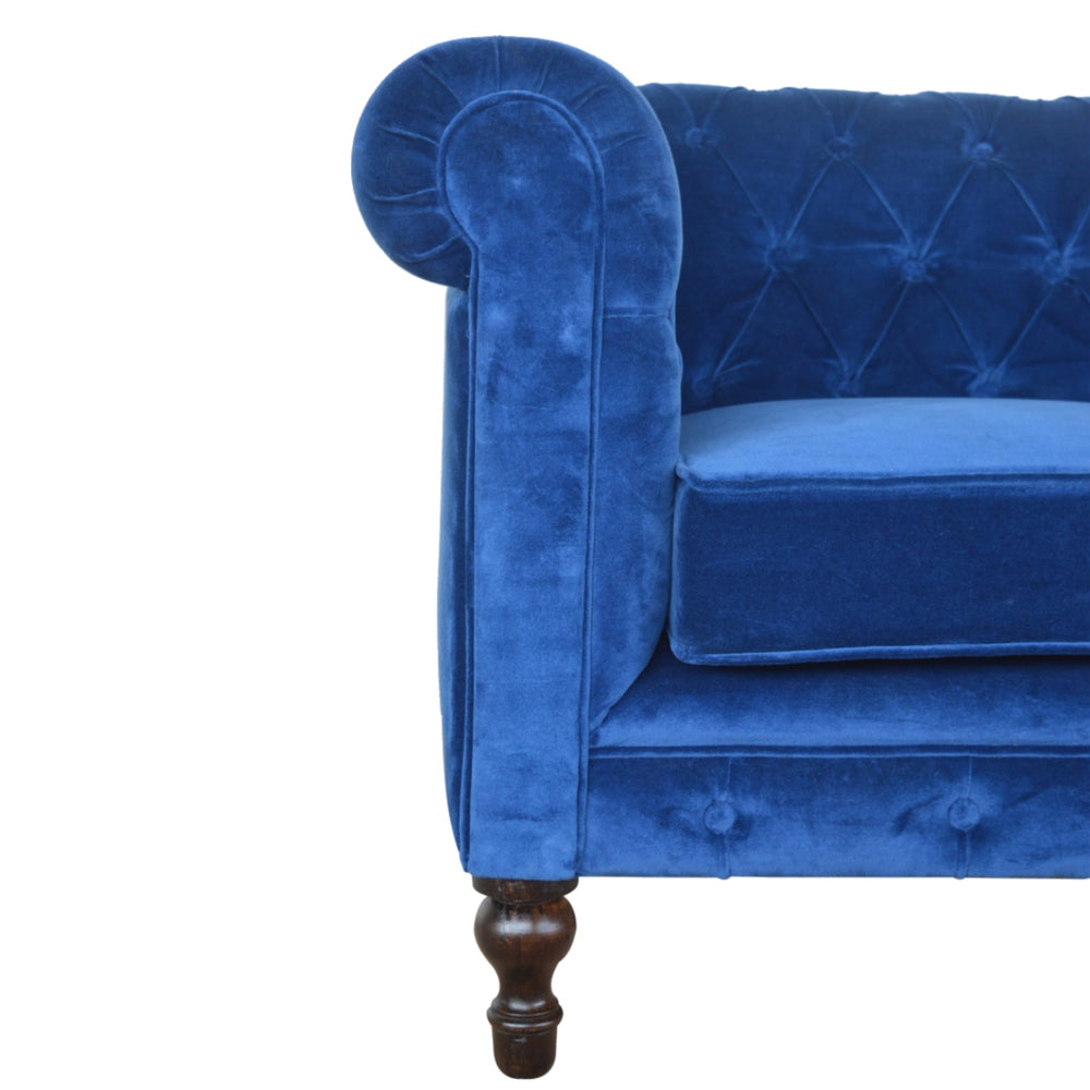 Load image into Gallery viewer, Velvet 2 Seater Chesterfield Sofa-seating-Maximalist Love-Blue-Maximalist Love