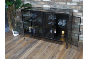 Load image into Gallery viewer, Black Glass cabinet-Maximalist Love-Maximalist Love
