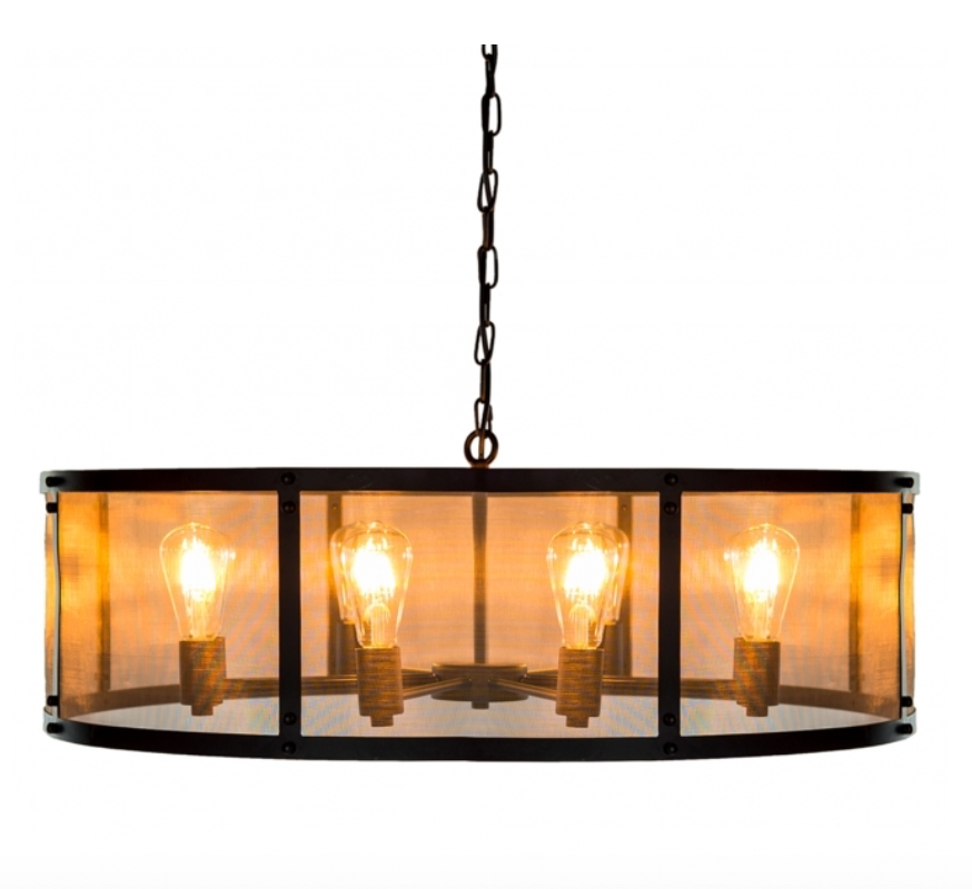 Drum shaped industrial style light fitting-Lighting-Maximalist Love-Maximalist Love
