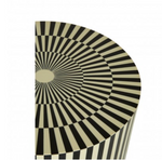 Mono Striped Side Table/Stool-seating-Maximalist Love-Maximalist Love