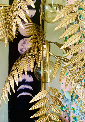 Load image into Gallery viewer, Palm Leaf Floor Lamp-Lighting-Maximalist Love-Maximalist Love