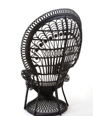 Load image into Gallery viewer, Peacock Noir Chair-seating-Maximalist Love-Maximalist Love