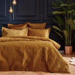 Sumptuous Gold flocked bedding-Maximalist Love-Gold-Single-Maximalist Love