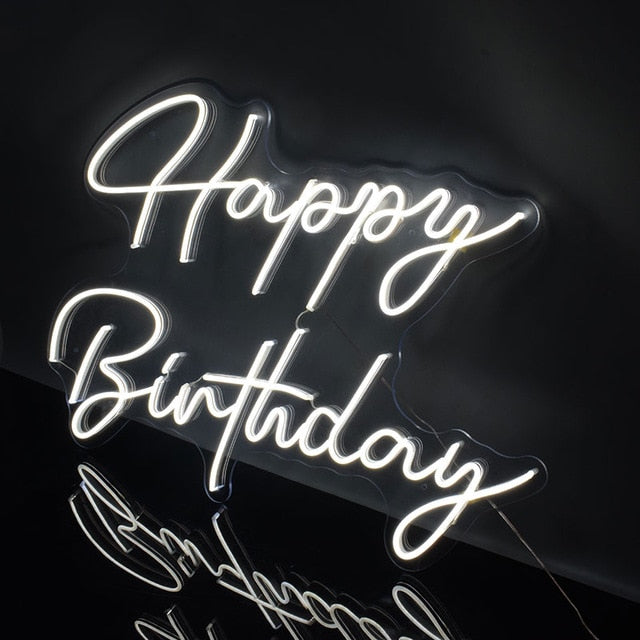 Load image into Gallery viewer, Neon Signs Handcrafted to order-Lighting-Maximalist Love-Happy birthday-UK plug-Maximalist Love
