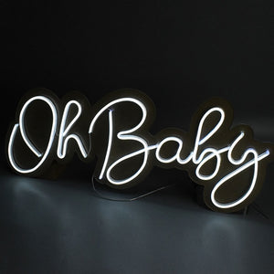 Load image into Gallery viewer, Neon Signs Handcrafted to order-Lighting-Maximalist Love-Oh baby-UK plug-Maximalist Love