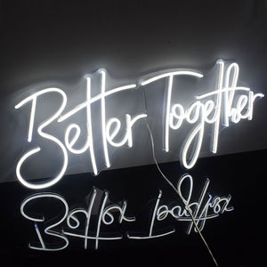 Load image into Gallery viewer, Neon Signs Handcrafted to order-Lighting-Maximalist Love-Better togeter-UK plug-Maximalist Love