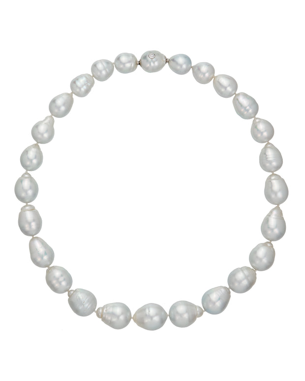 South Sea pearl strand, crafted in 18 karat white gold.